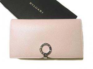 6393743c8a34 ブルガリ ] グレインカーフ 二つ折長財布(ライトピンク) - BG-1199