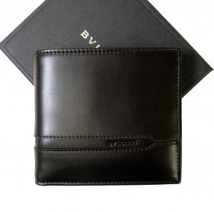 ブルガリ 財布 カーフ レザー メンズ モカ 二つ折 オクト マルティコ