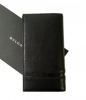 ブルガリ 長財布 グレインカーフレザー ブラック メンズ 二つ折 オクト MainPhoto