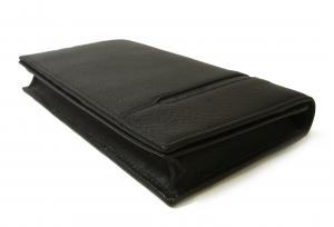 No.3 長財布 グレインカーフレザー ブラック メンズ 二つ折 オクト