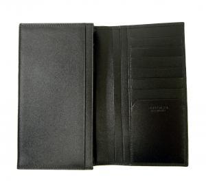 No.4 長財布 グレインカーフレザー ブラック メンズ 二つ折 オクト