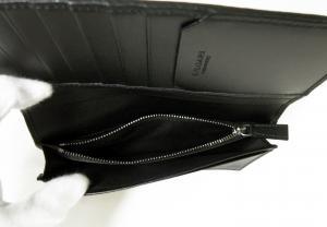 No.6 長財布 グレインカーフレザー ブラック メンズ 二つ折 オクト