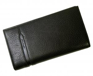 No.7 長財布 グレインカーフレザー ブラック メンズ 二つ折 オクト