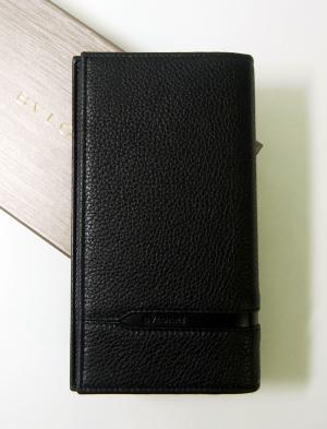 ブルガリ 長財布 グレインカーフレザー ブラック メンズ 二つ折 オクト