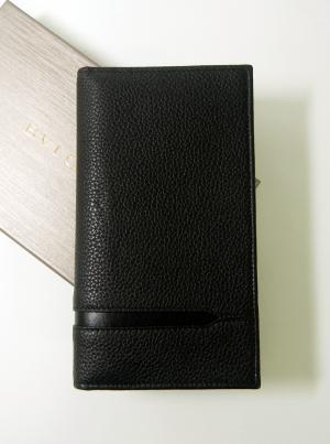 No.2 長財布 グレインカーフレザー ブラック メンズ 二つ折 オクト