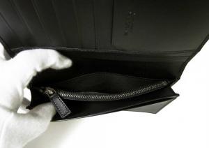 No.5 長財布 グレインカーフレザー ブラック メンズ 二つ折 オクト