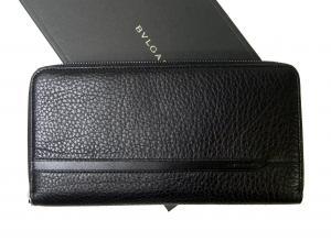 ブルガリ 長財布 ブラック オーガナイザー トラベル オクト *大きめサイズ