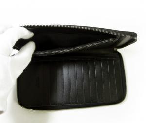 No.6 長財布 ブラック オーガナイザー トラベル オクト *大きめサイズ