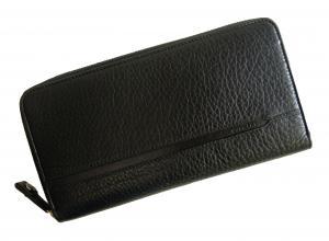 No.8 長財布 ブラック オーガナイザー トラベル オクト *大きめサイズ
