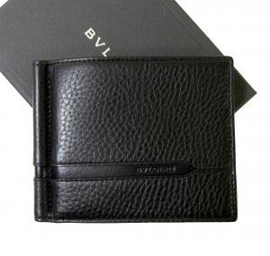 ブルガリ マネークリップ カードケース ブラック グレインカーフ オクト MainPhoto