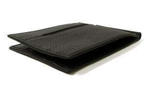 No.3 マネークリップ カードケース ブラック グレインカーフ オクト