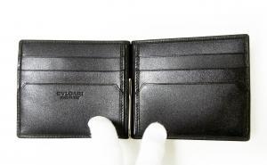 No.4 マネークリップ カードケース ブラック グレインカーフ オクト