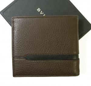 No.2 財布 二つ折 グレインカーフ メンズ ダークブラウン オクト