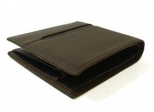 No.3 財布 二つ折 グレインカーフ メンズ ダークブラウン オクト