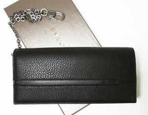 ブルガリ 長財布 ウォレットチェーン 二つ折 グレインカーフ オクト