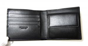 No.4 財布 二つ折 グレインカーフ メンズ ブラック オクト