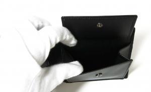 No.6 財布 二つ折 グレインカーフ メンズ ブラック オクト