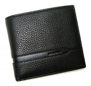 No.7 財布 二つ折 グレインカーフ メンズ ブラック オクト