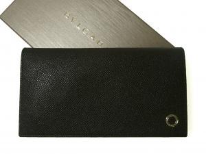 ブルガリ 長財布 ブルガリブルガリ グレインカーフ 二つ折 ブラック
