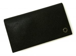 No.12 長財布 ブルガリブルガリ グレインカーフ 二つ折 ブラック