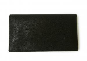No.2 長財布 ブルガリブルガリ グレインカーフ 二つ折 ブラック