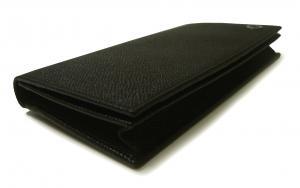 No.3 長財布 ブルガリブルガリ グレインカーフ 二つ折 ブラック