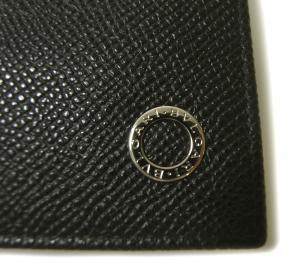 No.4 長財布 ブルガリブルガリ グレインカーフ 二つ折 ブラック