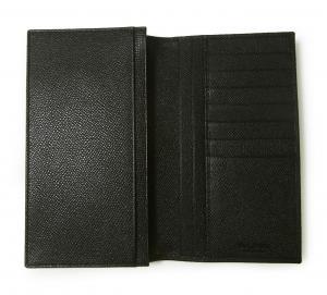 No.5 長財布 ブルガリブルガリ グレインカーフ 二つ折 ブラック