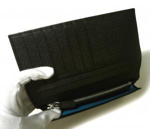 No.6 長財布 ブルガリブルガリ グレインカーフ 二つ折 ブラック