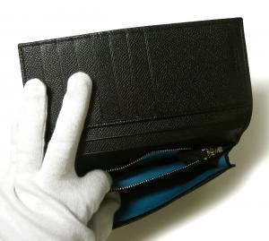 No.7 長財布 ブルガリブルガリ グレインカーフ 二つ折 ブラック