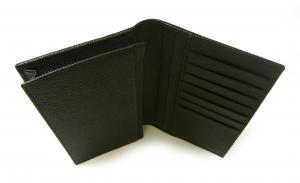 No.9 長財布 ブルガリブルガリ グレインカーフ 二つ折 ブラック