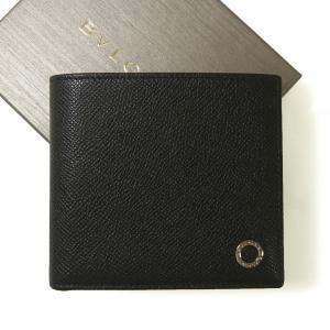 ブルガリ 財布 ブルガリブルガリ グレインカーフ 二つ折 ブラック