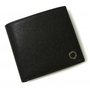 No.10 財布 ブルガリブルガリ グレインカーフ 二つ折 ブラック