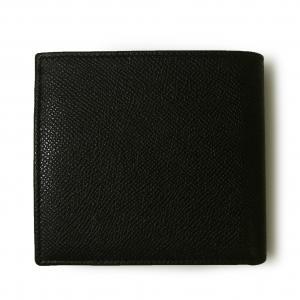 No.2 財布 ブルガリブルガリ グレインカーフ 二つ折 ブラック