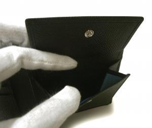 No.6 財布 ブルガリブルガリ グレインカーフ 二つ折 ブラック