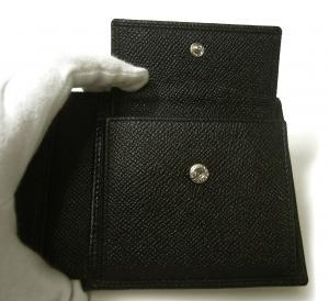 No.7 財布 ブルガリブルガリ グレインカーフ 二つ折 ブラック