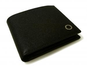 No.8 財布 ブルガリブルガリ グレインカーフ 二つ折 ブラック