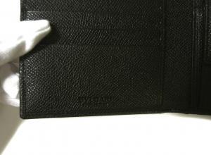 No.9 財布 ブルガリブルガリ グレインカーフ 二つ折 ブラック