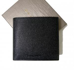 ブルガリ 財布 グレインカーフ 二つ折 ブラック