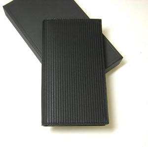 No.3 財布 メンズ ミレリゲ 二つ折長財布(ブラック)