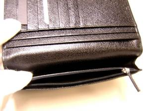 No.7 財布 メンズ ミレリゲ 二つ折長財布(ブラック)