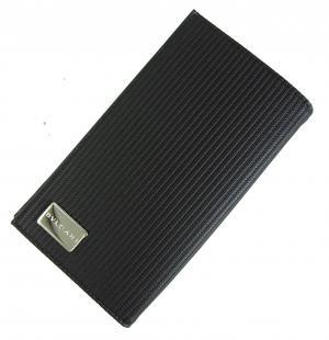 No.8 財布 メンズ ミレリゲ 二つ折長財布(ブラック)