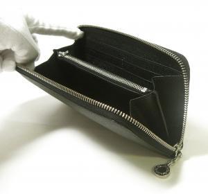 No.4 長財布 ラウンドファスナー グレインカーフ (ブラック)