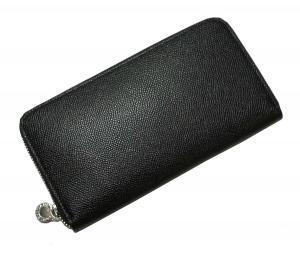 No.7 長財布 ラウンドファスナー グレインカーフ (ブラック)