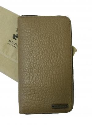 バーバリー 長財布 メンズ ラウンドファスナー ヘリテージ グレインレザー *大きめサイズ