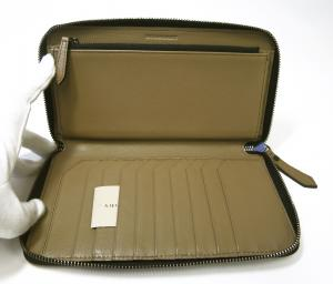No.5 長財布 メンズ ラウンドファスナー ヘリテージ グレインレザー *大きめサイズ