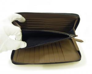 No.6 長財布 メンズ ロンドンレザー エンボスチェック *大きめサイズ
