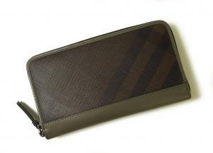 バーバリー 長財布 ラウンドファスナー チョコレートブラウン *大きめサイズ