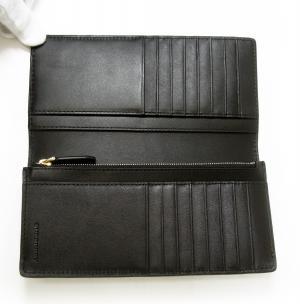 No.4 長財布 メンズ 二つ折 スモークトチェック (チョコレート)