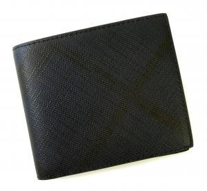 バーバリー 財布 メンズ 二つ折 スモークトチェック(ネイビー) MainPhoto
